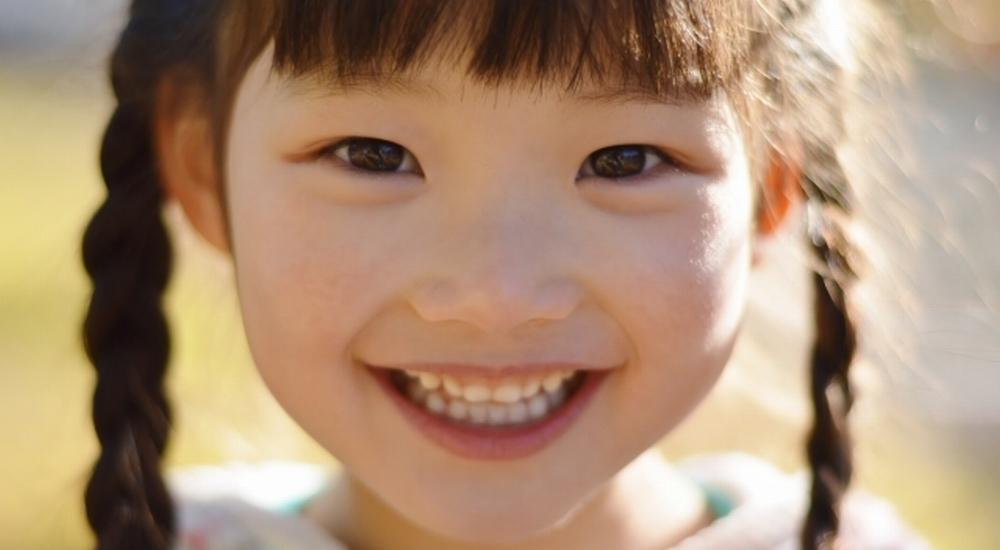 綺麗な歯と笑顔